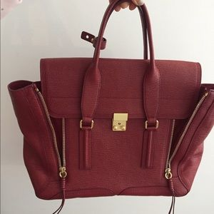 3.1 Philip Lim Large Red Pashli Satchel